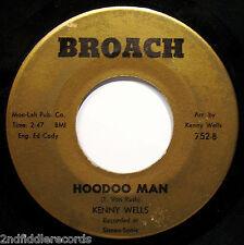 KENNY WELLS-Lot Of Love & Hoodoo Man-Rare Chicago Soul & Funk 45-BROACH #752