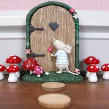 NEW PINK FAIRY DOOR - MOUSE GARDEN ORNAMENT TREES OR WALL FD_12035