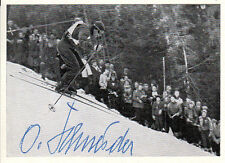 Othmar Schneider † (AUT) Gold Ski Alpin Slalom 1952 original signiert/signed !!!