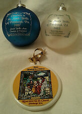 Set of 3 Pittsburgh Area Christmas Ornaments