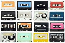 SUPERBA retrò cassetta nastri in tela # 394 qualità A1 Retro Musica CANVAS Wall Art