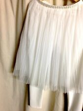 Tulle + legging Skirt / Trousers Stretched  White Sz L GU like CD look !