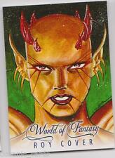 WORLD OF FANTASY  REPRINT SKETCH ART INSERT CARD Z-RC2 ROY COVER FOLD OUT Z-CARD