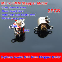 2PCS Micro 6mm Stepper Motor Copper Gear Motor 2-phase 4-wire DIY Digital Camera