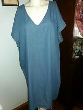 NWT OLD NAVY BLUE DENIM PLUS SIZE XXL DRESS