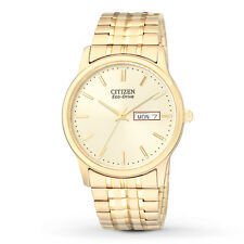 New in Box! Authentic Mens CITIZEN Eco Drive Gold Tone Watch BM8452-99P