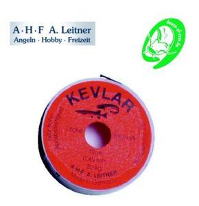 A.H.F. A. Leitner Kevlar Vorfachschnur 0,25mm 12kg Waller Hecht Vorfach Zander