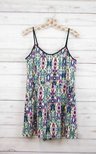 New Xhilaration Sleeveless Short Printed Casual Romper Multicolored Womens S