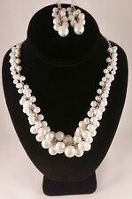 Pearl Bead Necklace and Earring Set