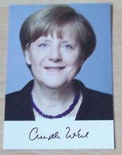 CDU/ Autogrammkarte: Fr. Angela Merkel / Bundeskanzlerin - Chefin v. Deutschland