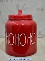 Rae Dunn HOHOHO Red Large Chubby Canister Christmas Holiday NEW 2019