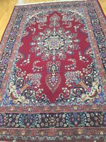 "6'3"" x 9'6"" Pakistani Floral Oriental Rug - Hand Made - 100% Wool"