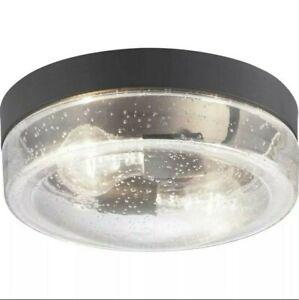 Progress Lighting Lakelynne 2 Light Textured Black Flushmount P550072-031
