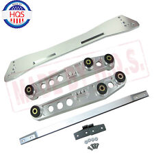 SILVER SUBFRAME Brace & TIE BAR & LOWER CONTROL ARMS For Civic 92-95 ACURA 04-01