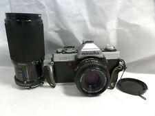 Minolta XG-1 35mm SLR Film Camera W/ 45mm & 80-200mm Lenses ⭐Good Shape⭐