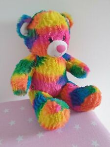 Bulid a Bear Rainbow Bright Multicoloured Soft Toy Plush Teddy Bear