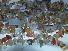 4-6MM Natural Rutilated Quartz Gemstone Chip Spacer Loose Beads About 250PC. NEW