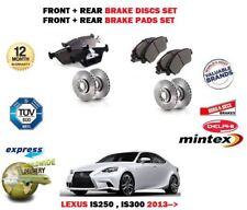 FOR LEXUS IS250 IS300H HYBRID 2013-> FRONT + REAR BRAKE DISCS SET + DISC PAD KIT