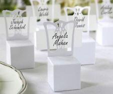 50 Cajas de Favor sillón blanco precioso con tarjetas de nombre de lugar, Boda Fiesta Regalo