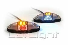 2x LED Side Marker Light 12V 24V Position Lamp Bus Truck Transporter 12 24 Volt