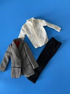 Vintage Barbie Male Ken Doll Country Clubbin #1400 Outfit Houndstooth Jacket Exc