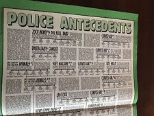 1982 Vintage 2 Page Poster Magazine Clipping The Police Antecedents Sting Chart