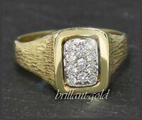 Brillant Ring mit 0,44ct Diamanten, Cocktailring, 585 Gold Gelbgold & Weißgold