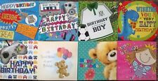 PACK OF 8 CHILDRENS KIDS BIRTHDAY GREETING CARDS FOR BOYS GIRLS