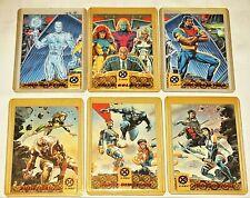 1994 X-MEN FLEER ULTRA MARVEL BLUE GOLD TEAM TRIPTYCH 6 CARD INSERT CHASE SET