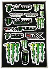 DECAL Sticker Sheet Monster Energy Motocross