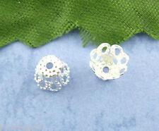 PD: 600 Versilbert Perlen Beads Ende Kappen 5*6mm