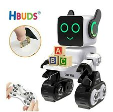 Robot Toy for Kids, Remote Control Interactive Robots with Money Box LED Light &