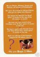 Boyz 2 Men #S Pop Rock Music Card Look!