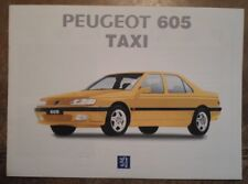 PEUGEOT 605 TAXI orig 1990s Unusual Greek Mkt Sales Brochure - Greece
