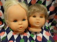 lot=== tétes de    poupées  bella  neuves