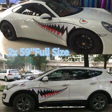 2x 59'' Shark Mouth Tooth Teeth Graphics Vinyl Car Door Window Sticker Decal