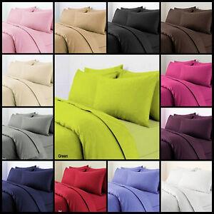 Plain Dyed Polycotton Duvet Quilt Cover witht Pillowcases Different Colours size