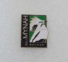 BALI Mynah Bird Collector LAPEL HAT PIN - Starling