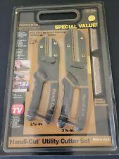 "2 Craftsman Professional HANDI CUT Utility Cutters + BLADES 2.5"" / 3 7/8"" - NEW"