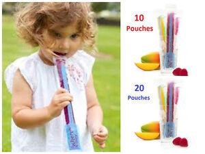 Baby Cherub Reusable Freeze n Squeeze ICE POP Pouches BPA free Food Storage Bag