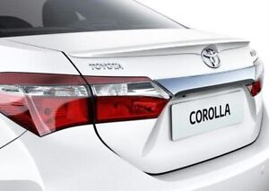 Toyota Corolla Sedan Altis OE style 2014-on rear trunk lip spoiler-UNPAINTED