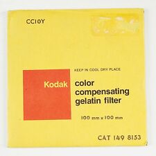 "KODAK 10Y Yellow Colour Correction 10cm 4"" Square Gel Filter NEW Old Stock"