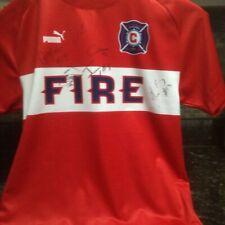 2011 Chicago Fire Teamed Signed Jersey- AUTOGRAPHED FIRE JERSEY