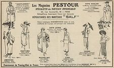 Y7066 Magasins PESTOUR - Mantaux SALF - Pubblicità d'epoca - 1922 Old advert
