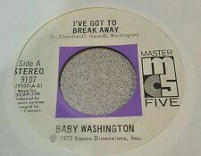 Baby Washington ‎– I've Got To Break Away / You (Just A Dream) (M-)