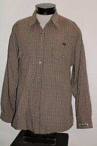 Wu WEAR/Wu-Tang Clan Mens XL X-Large VINTAGE/OG plaid Button-up shirt