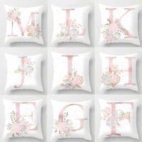 Letter Polyester White Cushion Cover Pillow Case Waist Throw Home Sofa Decor