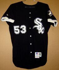 1993 CHICAGO WHITE SOX NORBERTO MARTIN #53 BLACK GAME WORN Size 42 JERSEY