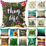 Soft Natural Linen Cotton FashionThrow Cover Home Sofa Decor Pillow Case Cushion