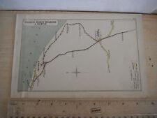 WEST RUNTON CROMER MUNDESLEY NORTH WALSHAM WORSTEAD NORFOLK RAILWAY MAP 1907 GER